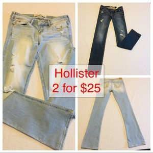 2 Pairs Hollister Jeans